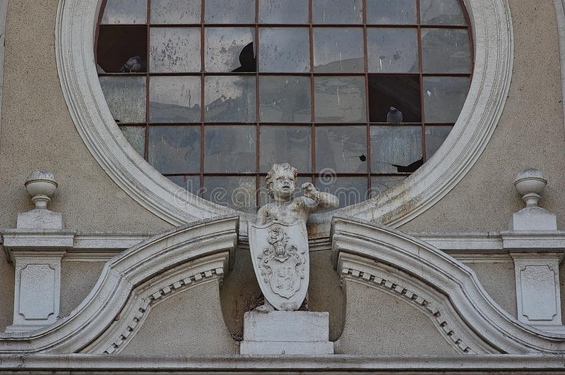Architectural detail. On an old historic building royalty free stock photography