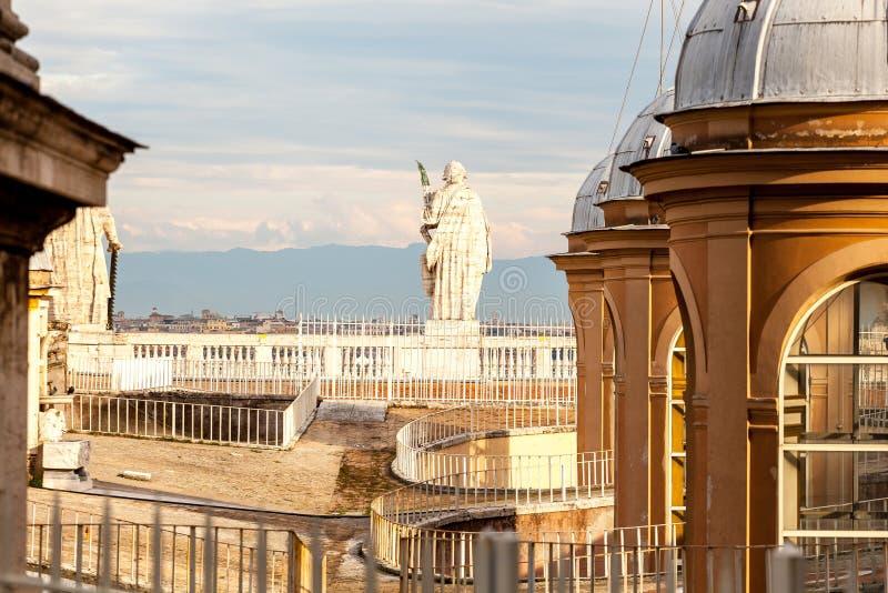 Architectural detail of San Pietro Square stock photos