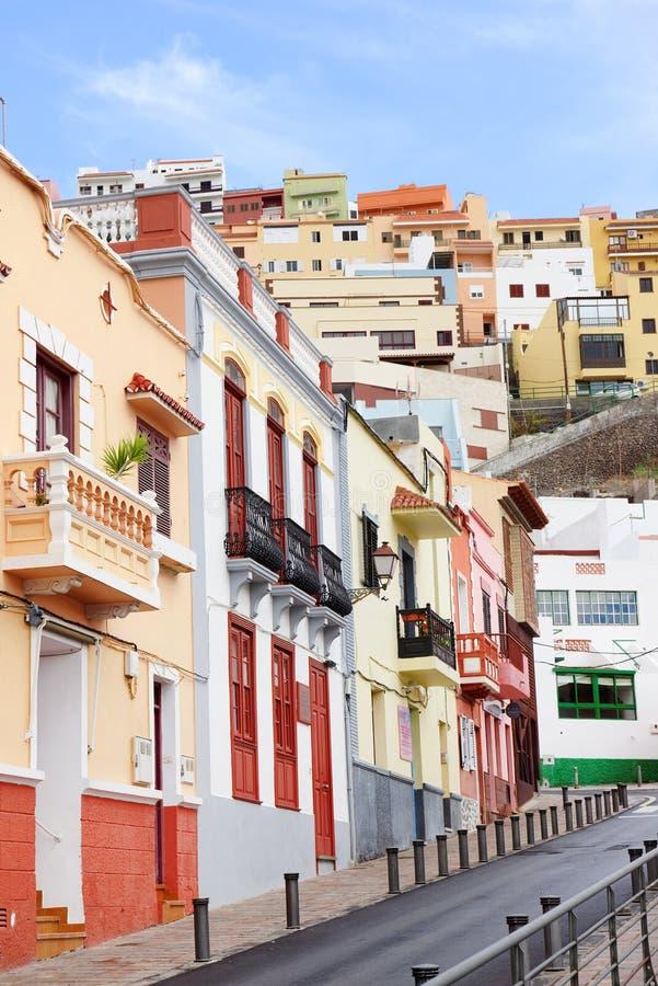 Architectural detail in San Sebastian de la Gomera. Canary Islands, Spain royalty free stock photo