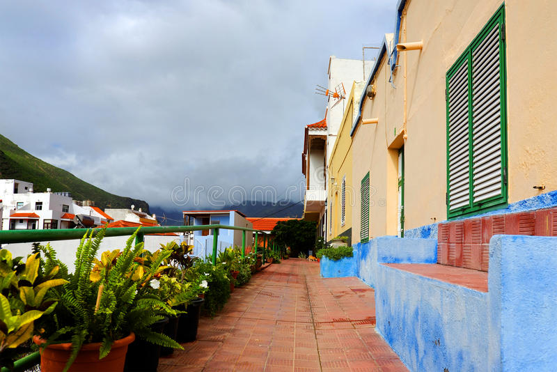Architectural detail in San Sebastian de la Gomera royalty free stock image