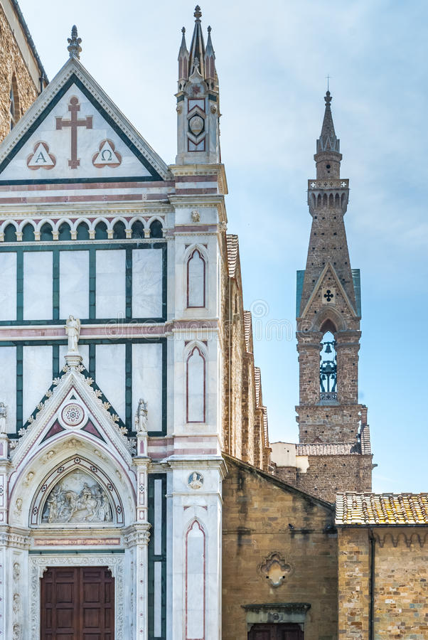 Architectural detail of Santa Croce in Florence royalty free stock images