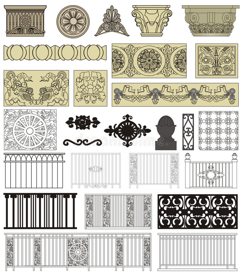 Download Architectural details stock vector. Illustration of format - 26490019