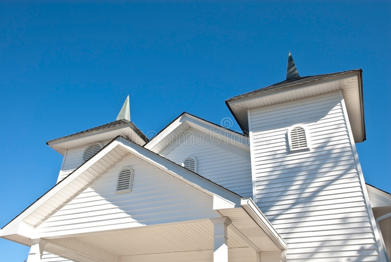 Architectural Details/Church. The beautiful architectural details of roof pitches and designs on a church royalty free stock photos