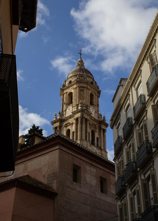 Architectural details of Malaga. Andalsuia Spain stock photo