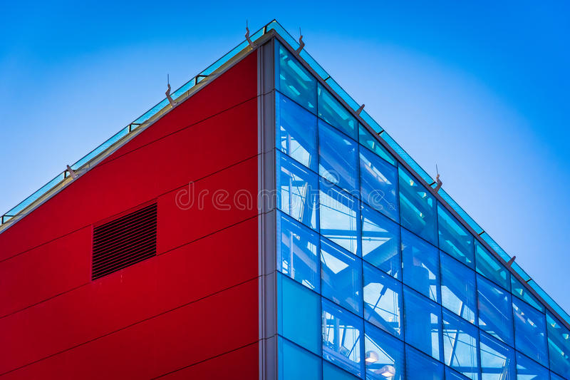 Architectural details at the National Aquarium in Baltimore, Mar stock images