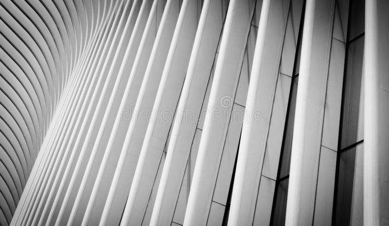 Architectural details of the Oculus, in Manhattan, New York City stock photos
