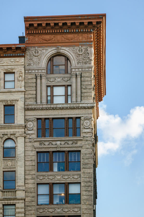 Architectural Details On Soho Building, Manhattan, Stock Image ...