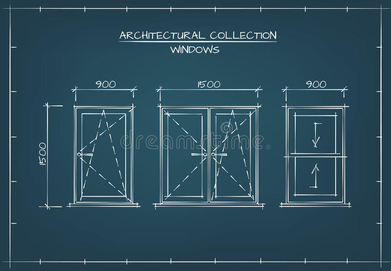 Architectural drawing of windows stock vector illustration of download architectural drawing of windows stock vector illustration of house glass 68166093 malvernweather Images