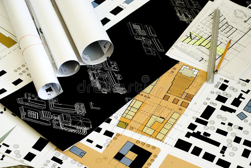 Architectural drawings blueprints city planning stock image download architectural drawings blueprints city planning stock image image of layout blueprints malvernweather Images