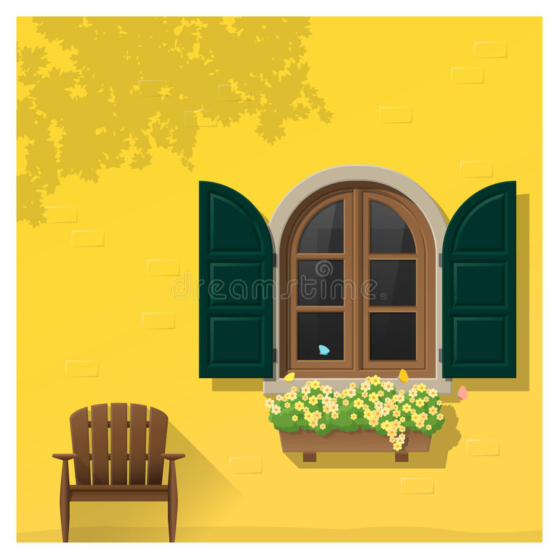 Architectural element Window background. Vector ,illustration royalty free illustration