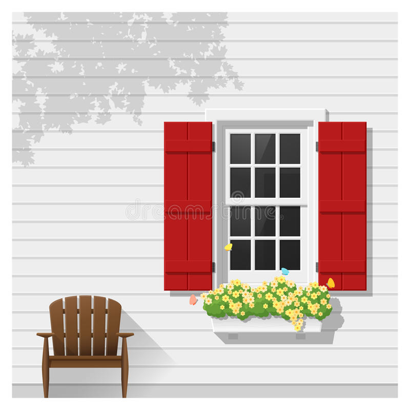 Architectural element Window background. Vector , illustration royalty free illustration
