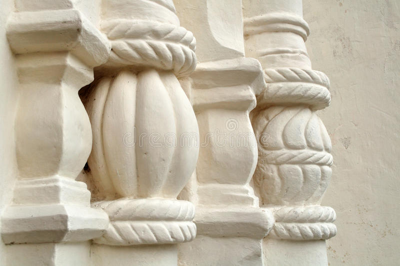 Architectural elements of St. Sophia Cathedral in Veliky Novgorod. Architectural elements of white-stones St. Sophia Cathedral in Veliky Novgorod royalty free stock photos