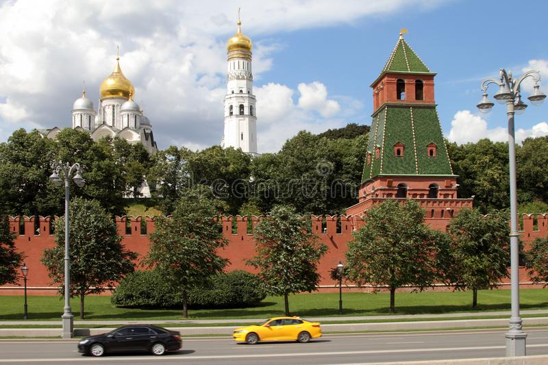 Architectural ensemble of the Moscow Kremlin. stock image