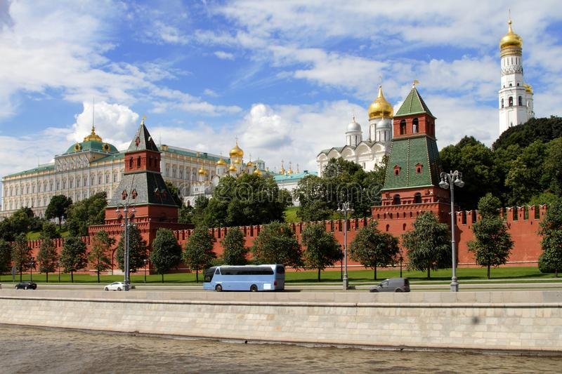 Architectural ensemble of the Moscow Kremlin. royalty free stock images