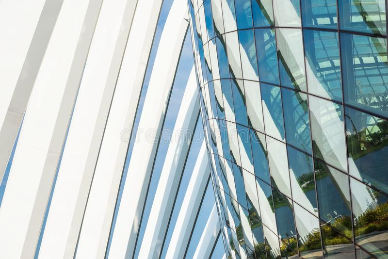 Architectural and facade of modern building, Park and outdoor royalty free stock image