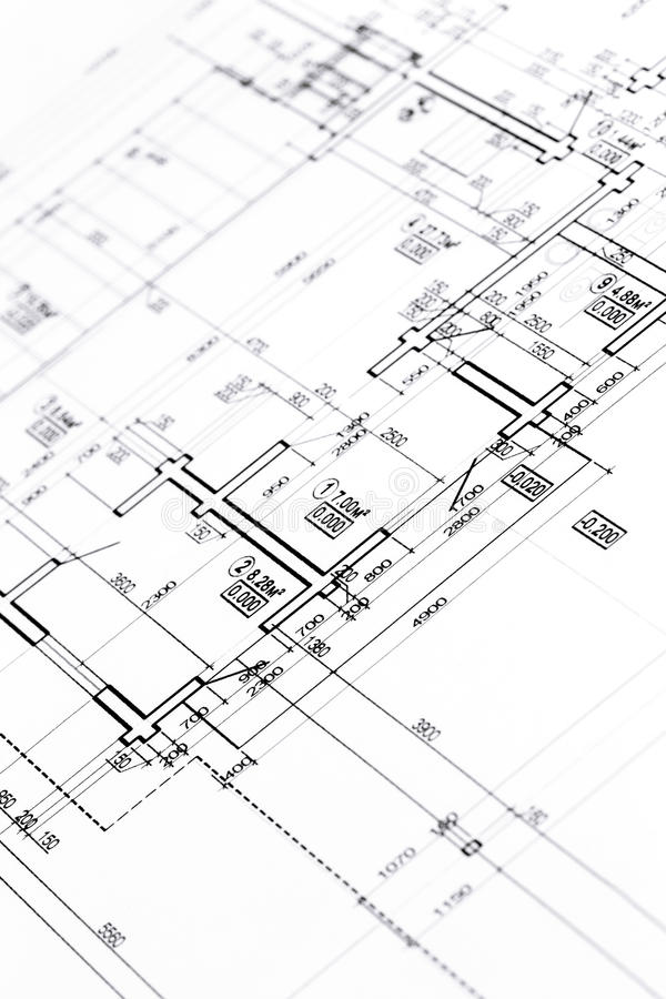 Architectural floor plan stock image. Image of dimensions - 55709637