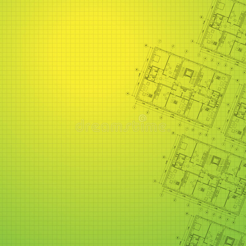 Architectural green background. royalty free illustration