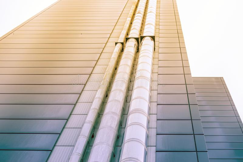 The architectural landscape. Of the commercial building royalty free stock photo