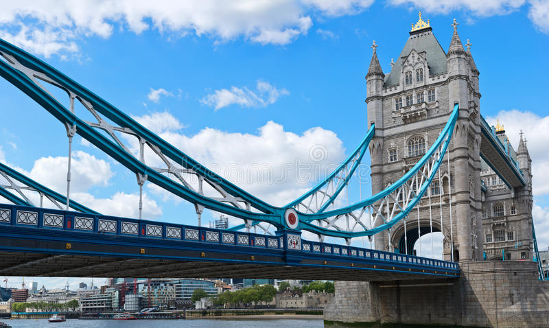 Download Architectural Landscape Of Tower Bridge Stock Photo - Image of blue, europe: 32159376