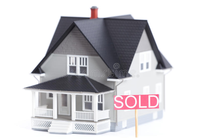 Download Architectural Model With Sold Sign, Isolated Stock Image - Image: 26195945
