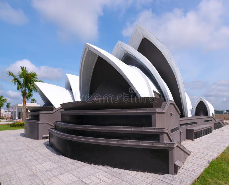 Architectural model Sydney Opera House stock photography