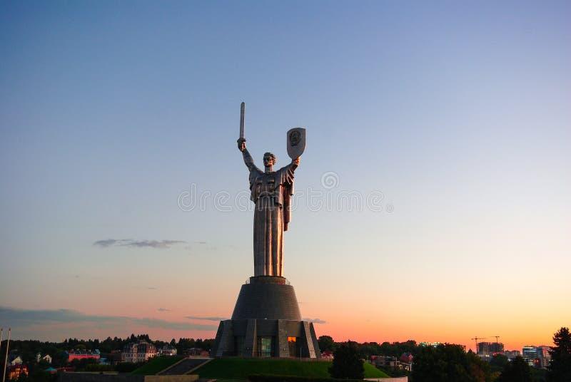 Architectural monument. Kiev, Ukraine. Architectural monument. Kiev Ukraine Motherland summer evening stock photography