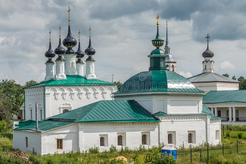 Architectural monuments of Suzdal. Summer day stock images