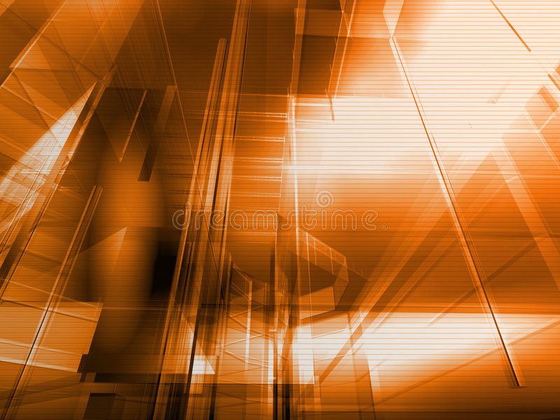 Architectural orange stock illustration