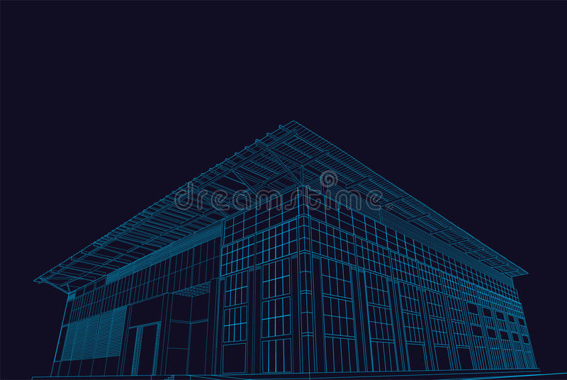 Download Architectural Outline Estate House Stock Vector - Image: 26568188