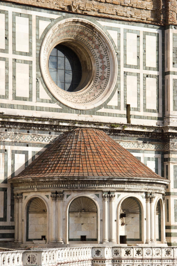 Architectural parts of Duomo - Florence royalty free stock photography