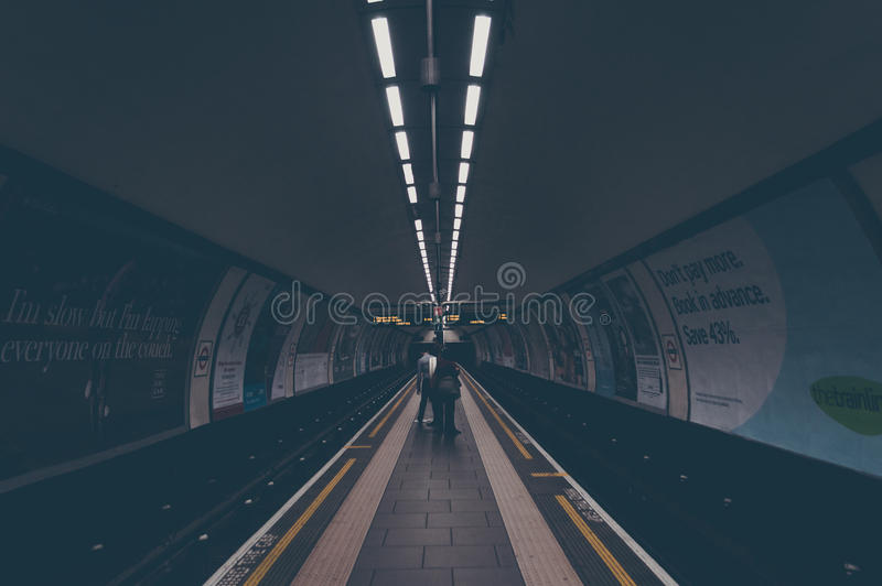 Architectural Photo of Pathway Inside Tunnel royalty free stock image