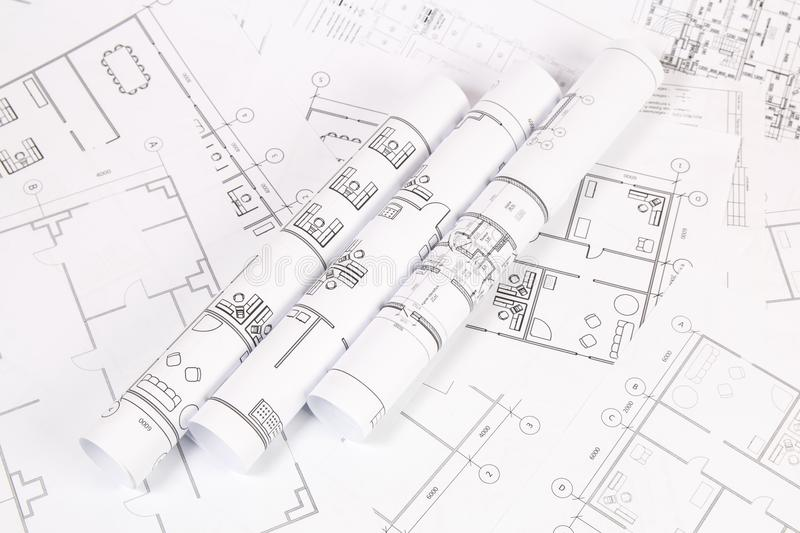 Architectural plan engineering house drawings and blueprints stock engineering house drawings and blueprints stock photo image of paper malvernweather Gallery
