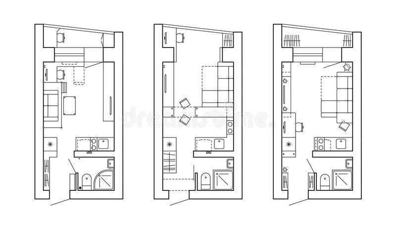 The Architectural Plan. The Layout Of The Apartment With The ...