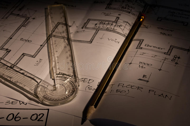 Download Architectural Plans stock photo. Image of pencil, drawings - 11086688