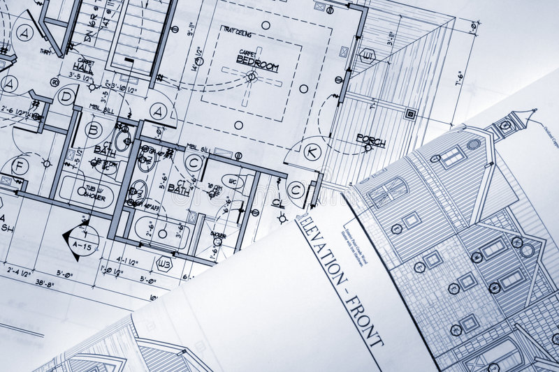 Download Architectural plans stock photo. Image of mansion, measurements - 4108860