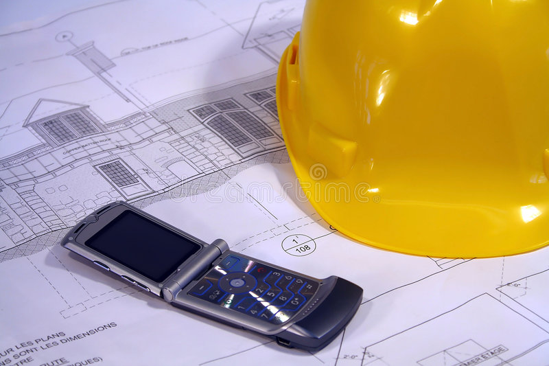 Architectural plans. For remodeling a home royalty free stock image