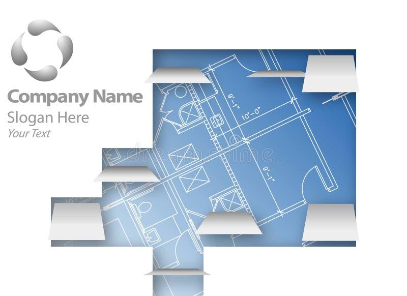 Architectural plans logo stock illustration