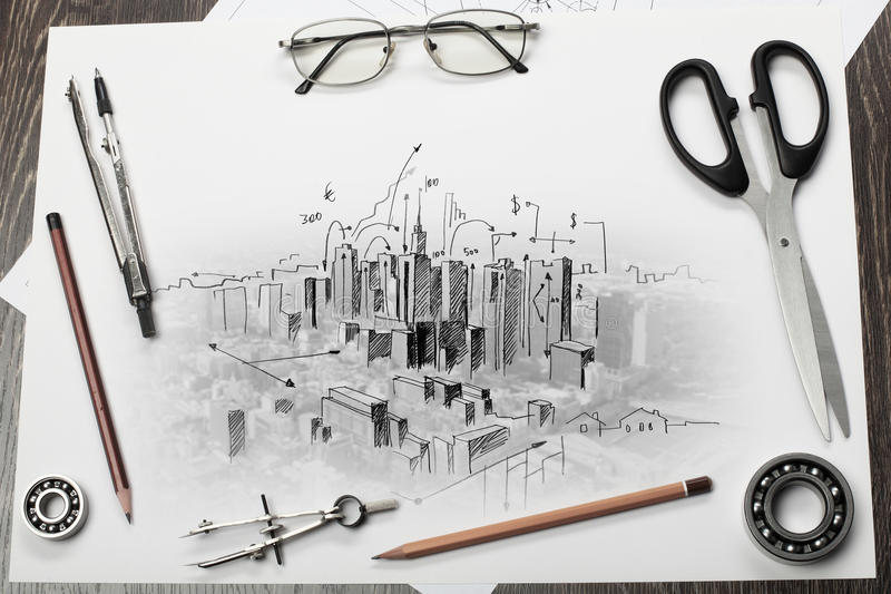Download Architectural Project Stock Photography - Image: 32885132