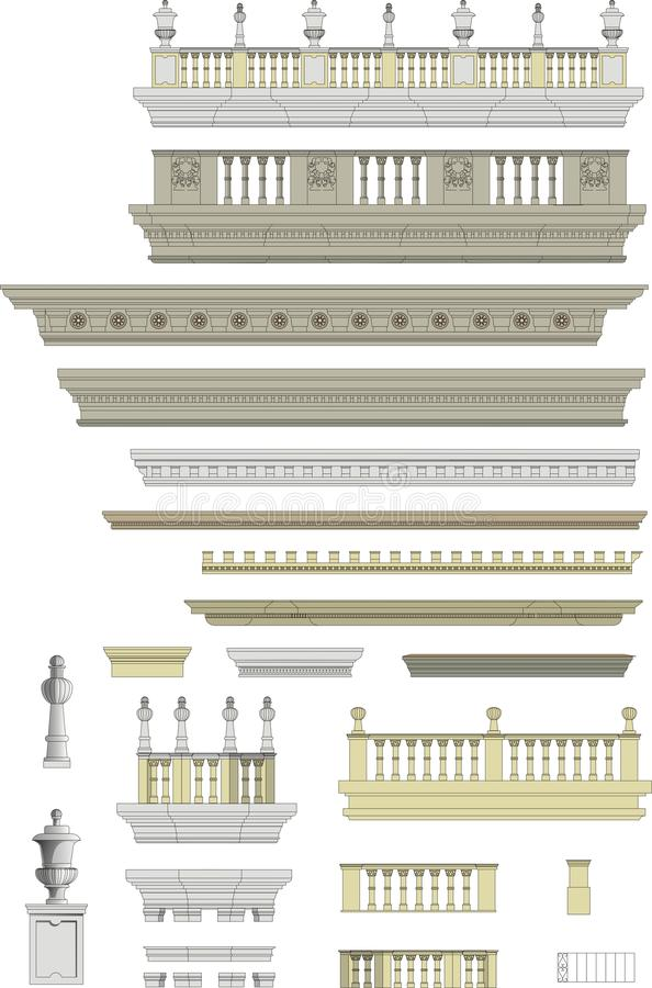 Free Architectural Roof Details, Moldings Royalty Free Stock Photos - 15475798
