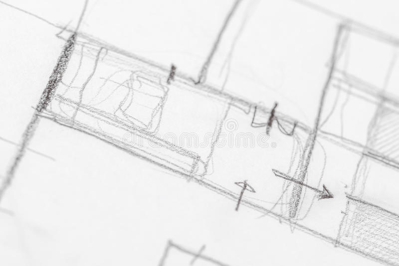 Architectural Sketch Drawing royalty free stock photography