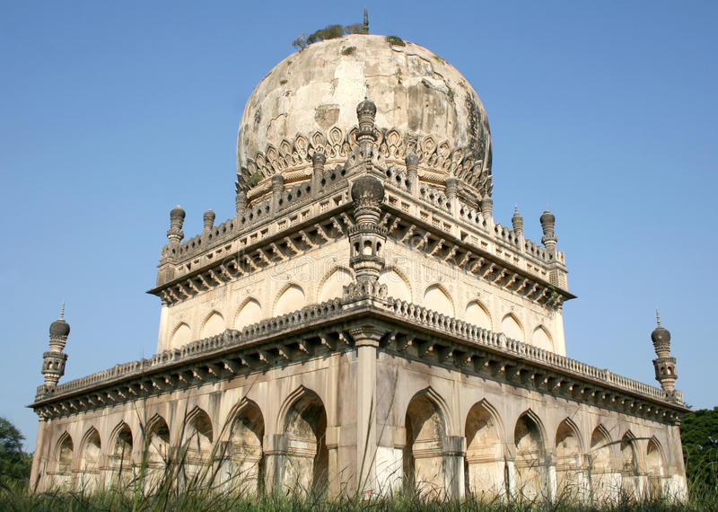 Architectural traditions of Qutub Shahi tombs,hyderabad,india. Qutub Shahi tombs monuments built in the years 1500 AD stock photo