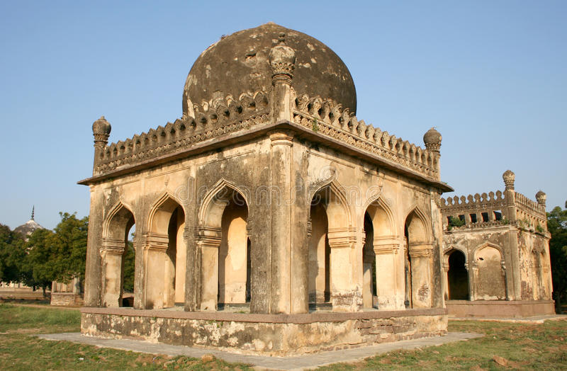 Architectural traditions of Qutub Shahi tombs,hyderabad,india. Qutub Shahi tombs monuments built in the years 1500 AD stock images