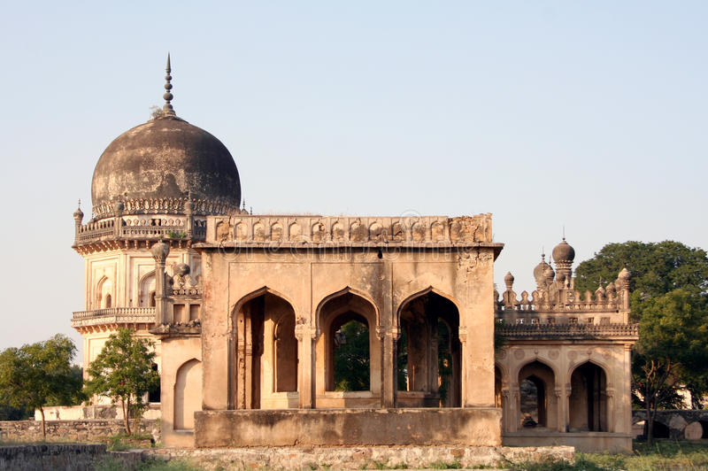 Architectural traditions of Qutub Shahi tombs,hyderabad,india. Qutub Shahi tombs monuments built in the years 1500 AD royalty free stock image