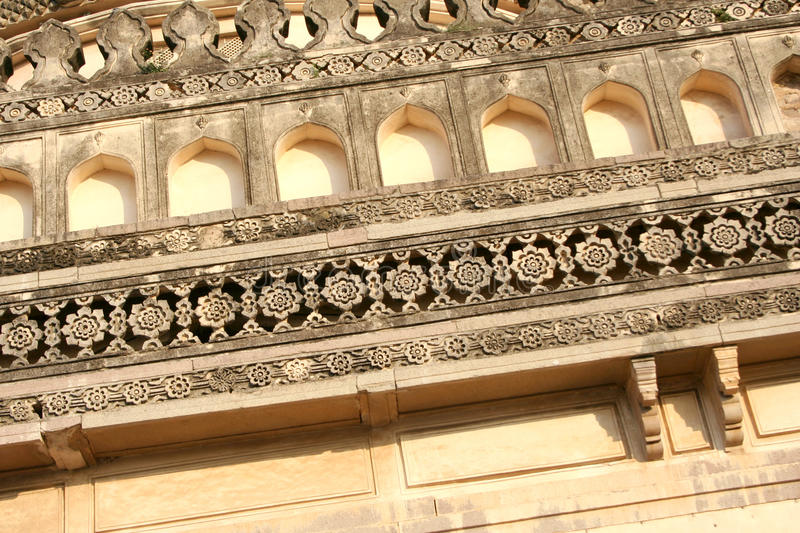 Architectural traditions of Qutub Shahi tombs,hyderabad,india. Qutub Shahi tombs monuments built in the years 1500 AD royalty free stock photo