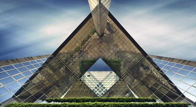 Architectural triangle royalty free stock images