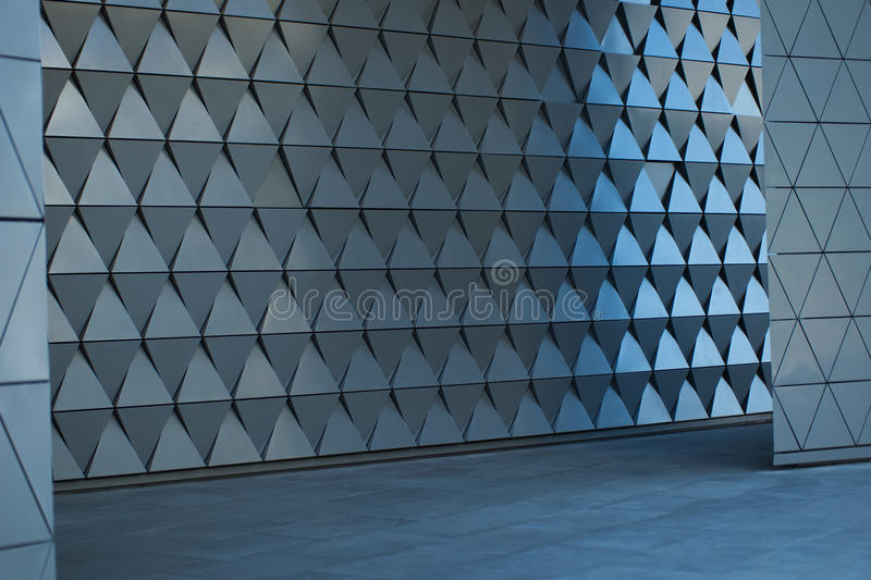 Architectural Wall Design At The Empty Lobby Stock Photo - Image