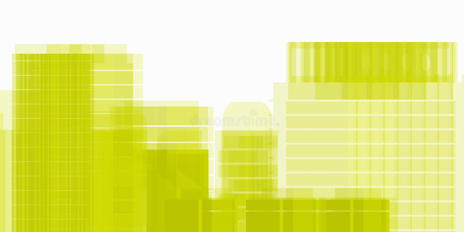 Yellow Architectural work of draw in white soft environment royalty free stock photo