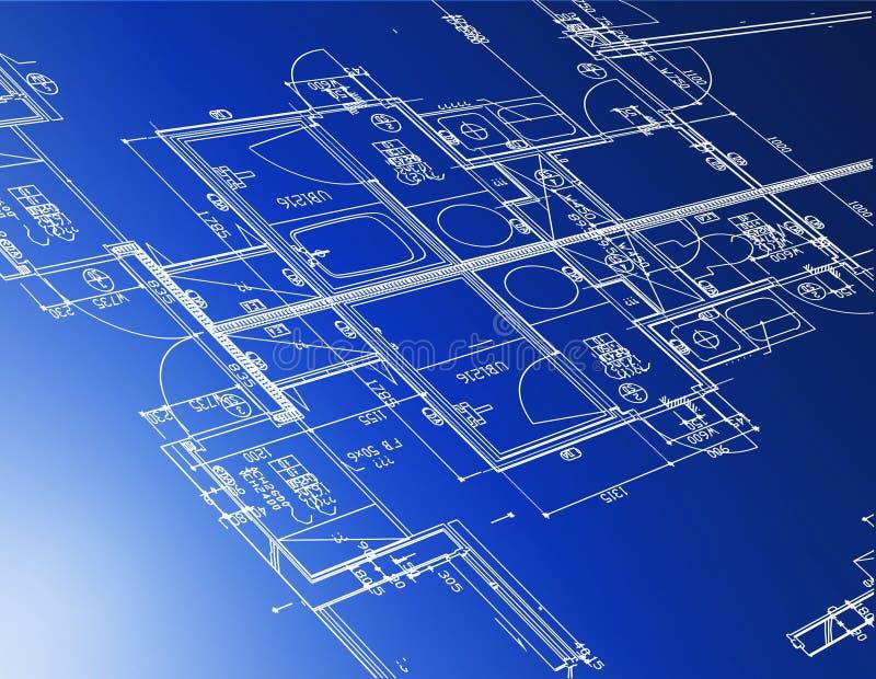 architecturale blauwdrukken royalty-vrije illustratie