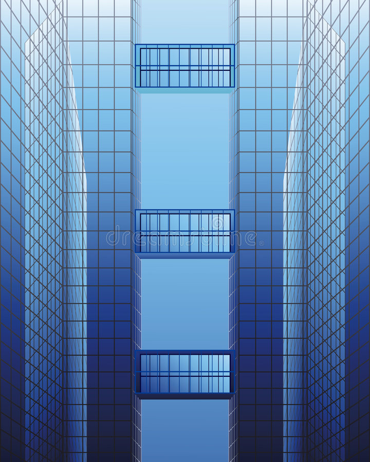 Architecturale bouw royalty-vrije illustratie