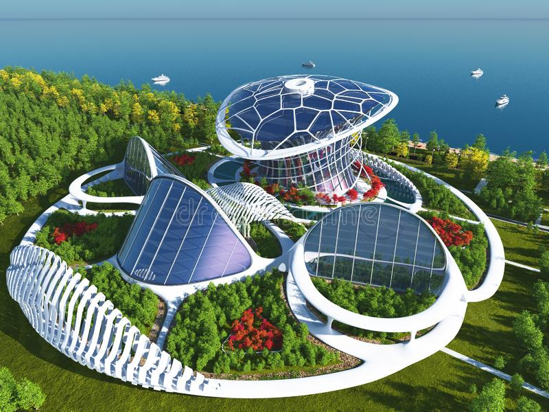 Architecturale complex vector illustratie